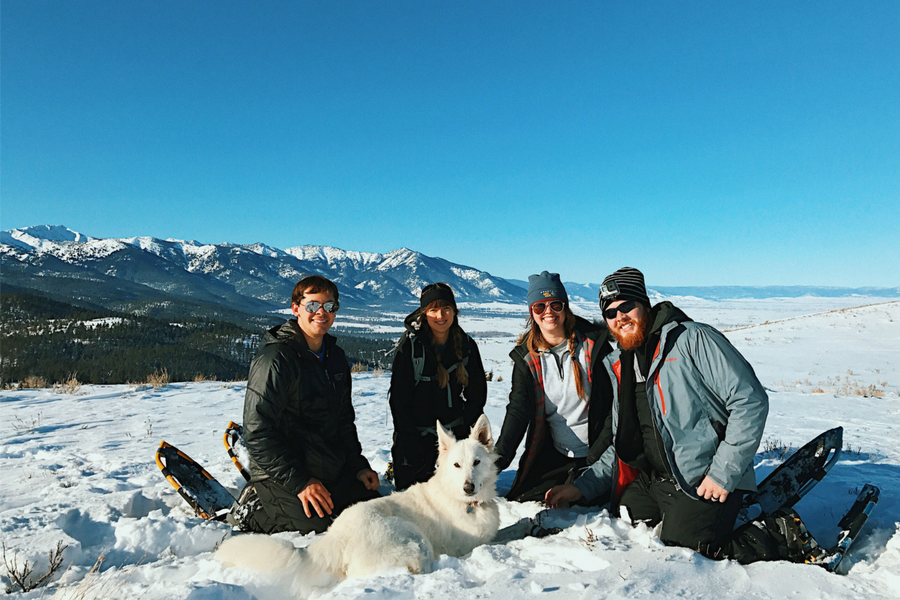My family at the end of our hiking trail in the Elkhorn Mountains