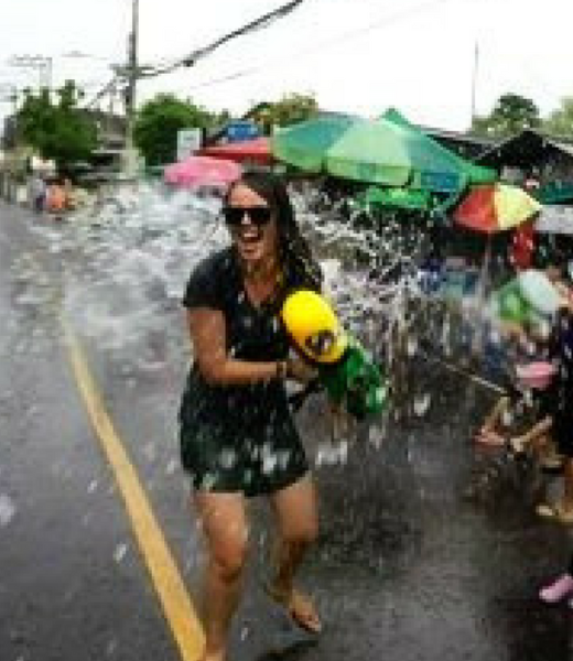 Water fights at the Songkran festival in Pai Thailand