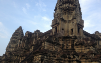 A tower in Angkor Wat, Siem Reap, Cambodia