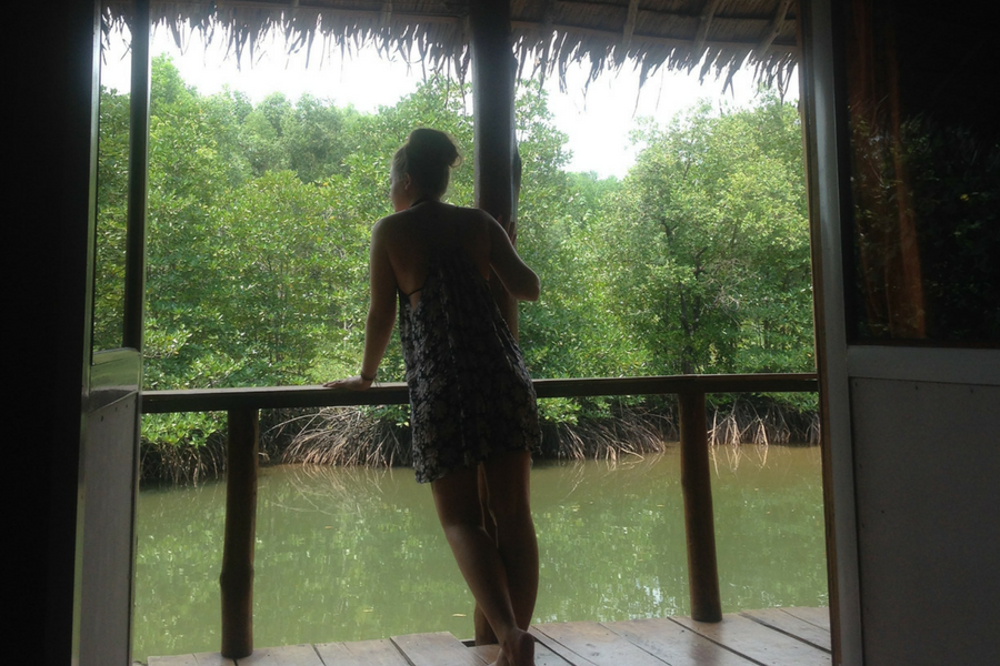 Our little riverfront bungalow in Sihanoukville, Cambodia