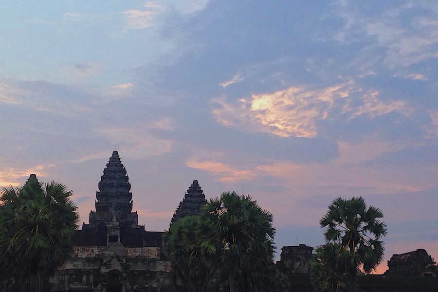 Angkor Wat, Siem Reap, Cambodia at sunrise