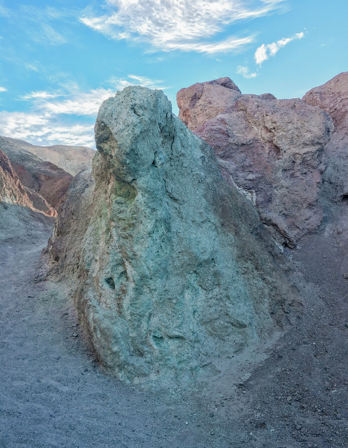 The colors of the rock on Artists Drive in Death Valley