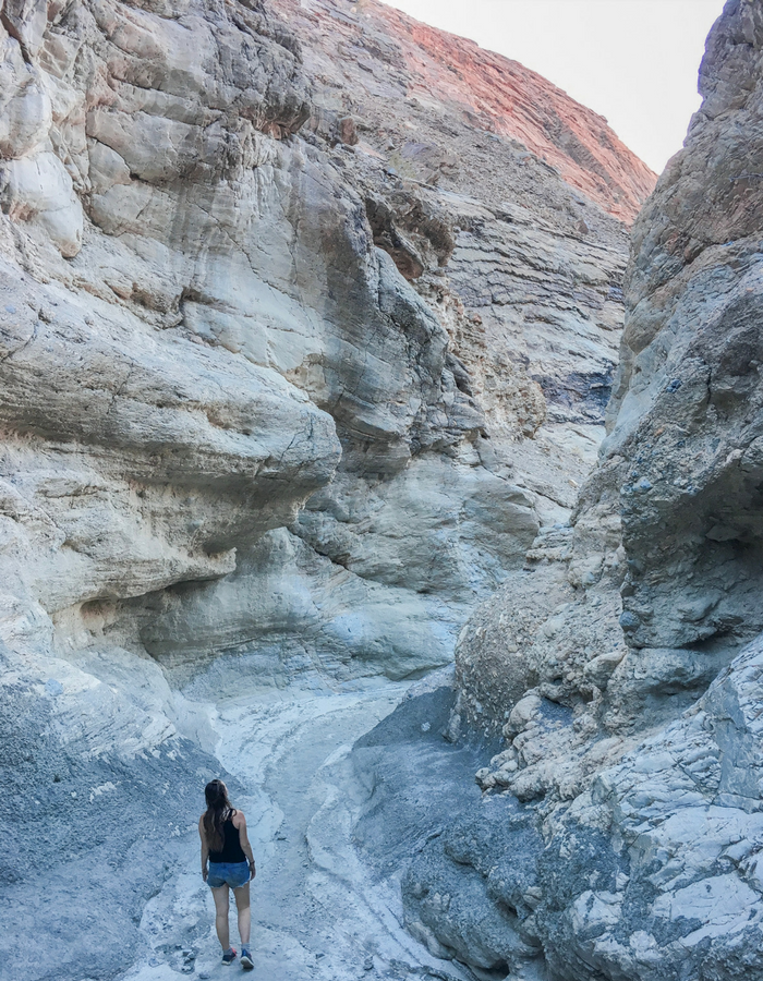 Hiking through Mosaic Canyon in Death Valley National Park