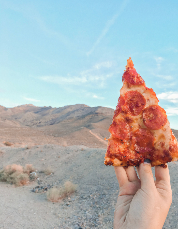What good is Netflix and camping without pizza?