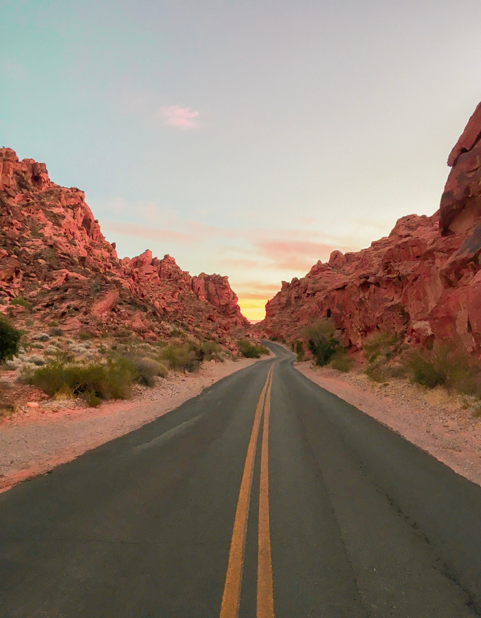 Mouse's Tank Road aka White Domes Road in Valley of Fire