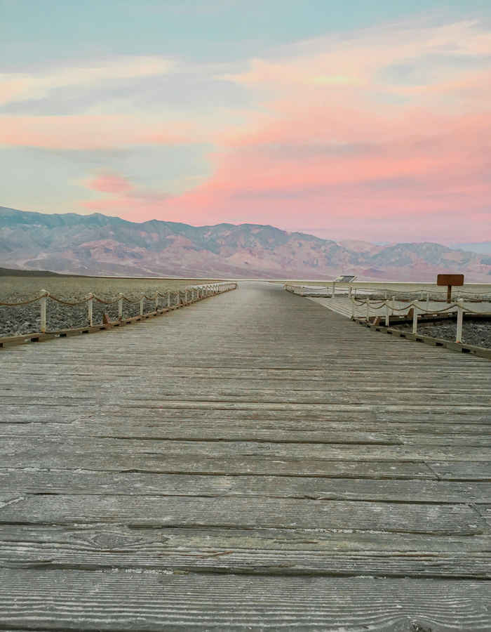 The sunrise at Badwater Basin in Death Valley