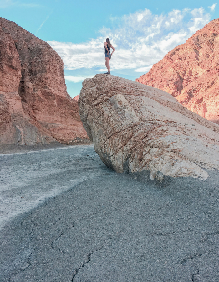 Climbing Rocks in Death Valley National Park