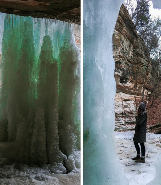 Starved Rock State Park Illinois ice Falls