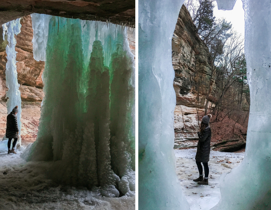 5 Easy & Magical Ice Fall Trails in Starved Rock