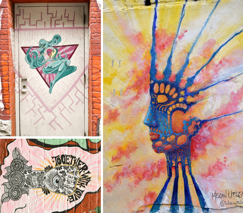 Freak Alley Gallery Collection: A painted door, Together With Love, Techni-colored Egyptian Queen