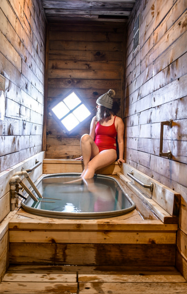 Private hot springs bath. Bathhouse #5