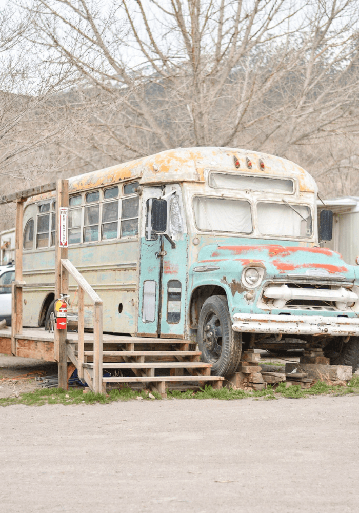 """The Other One"", Mystic Hot Springs most popular bus rental"